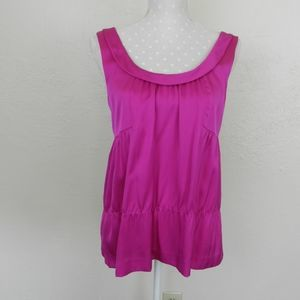 Theory Calena Pink Silk Sleeveless Top Size S